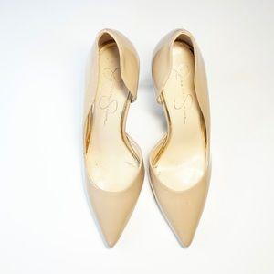 Jessica Simpson heels nude size 8 pointy toe